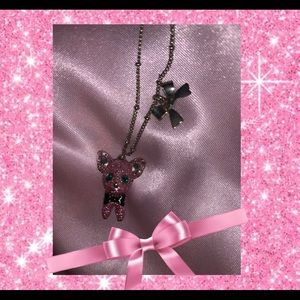 🐶💖pink glittery chihuahua necklace💖🐶